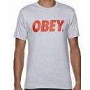 Tee OBEY FONT heather grey