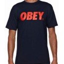 Tee OBEY FONT navy