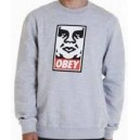 Sweat OBEY OG FACE CREW heather grey